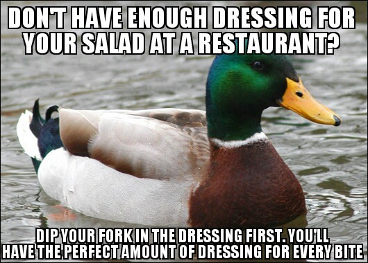 favorite salad dressing? - meme