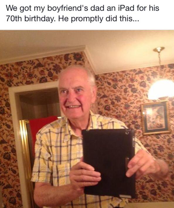 Grandpa selfie :) - meme