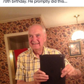 Grandpa selfie :)