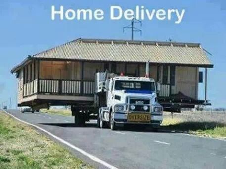 real home delivery - Meme by sahej007 :) Memedroid Mobile Home Roofing Memne on