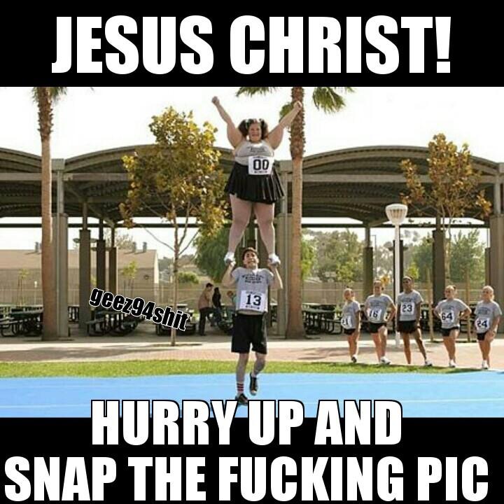 cheerleading is hard - meme