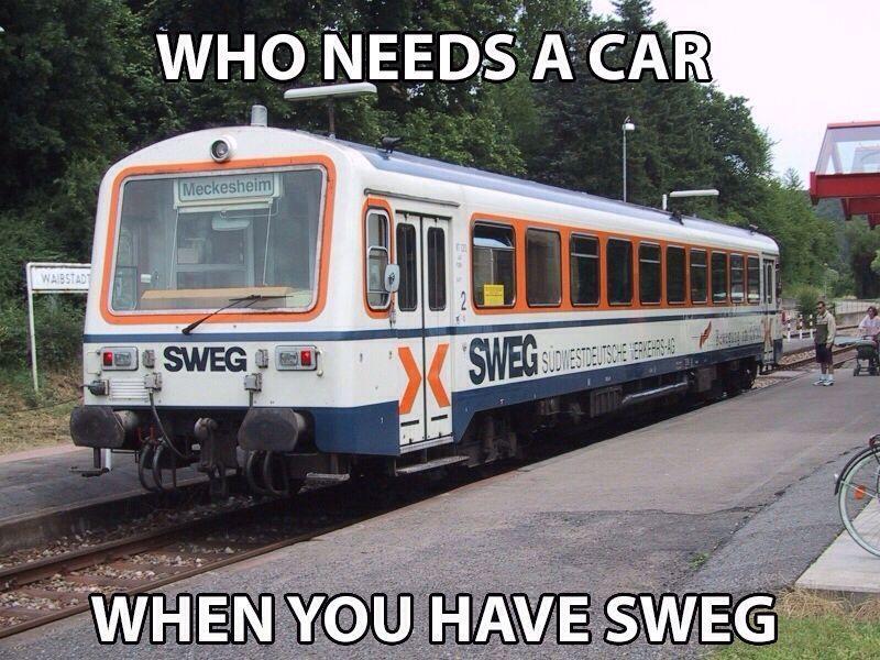all aboard the sweg train - meme