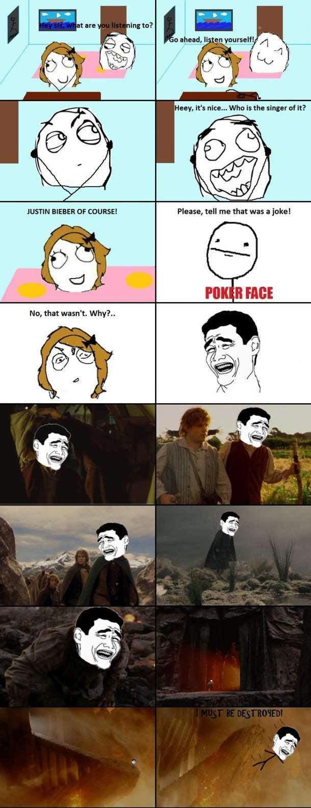 Nobody likes Bieber - meme