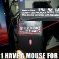 this device complies with canada. canadian mouse