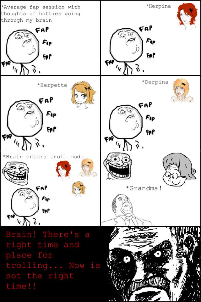 troll brain - meme