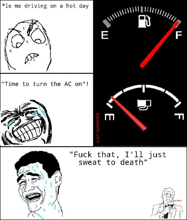 The on the AC - meme