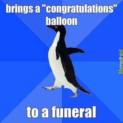 socially awkward penguin - meme