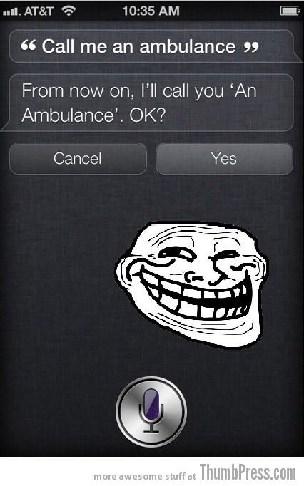 Siri troll - meme