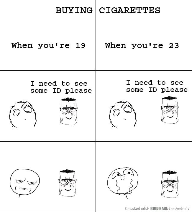 Buying cigarettes - meme