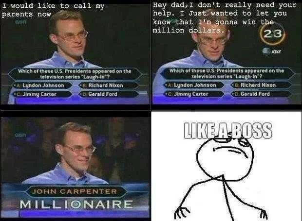 the first guy to win a million dollars - meme