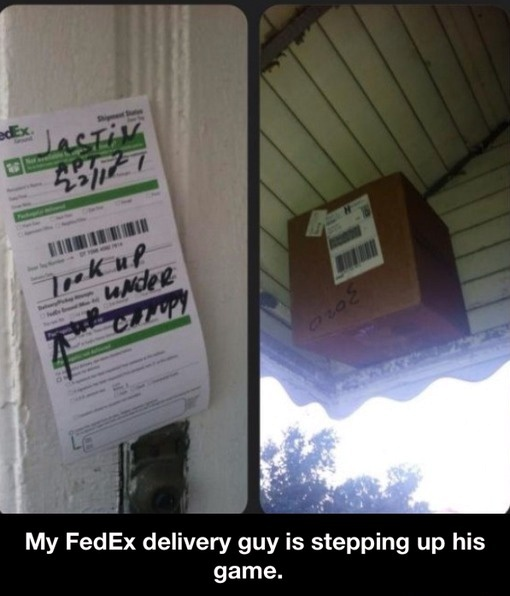 Fedex delivery guy lvl Well done - meme