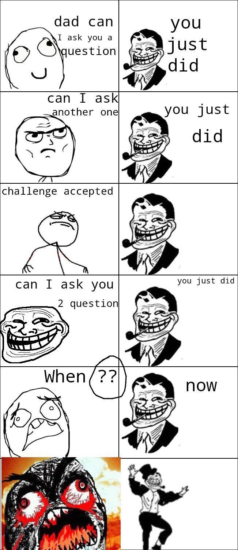 Troll dad - meme