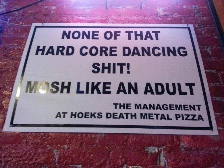 Mosh like an adult m/ - meme