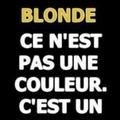 Désolé les blondes