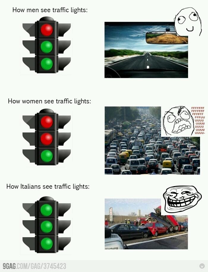 Trafficlights - meme