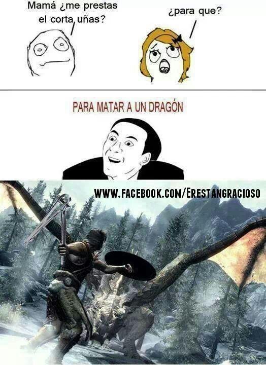 pa matar un dragon ftfghjbfghvg - meme