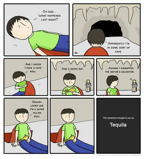 Tequila, starting adventures - meme