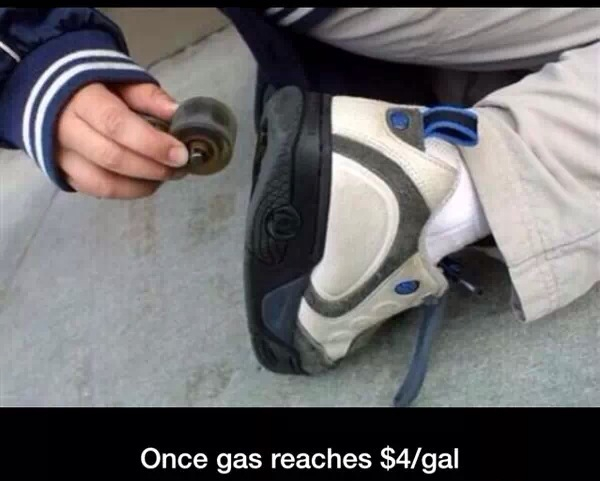 third comment buys gas for everyone. - meme