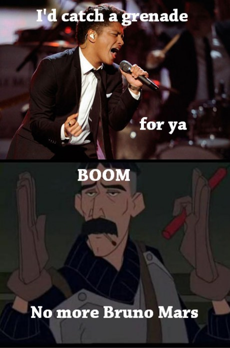 Bruno mars goes boom - meme
