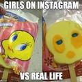 Girls on Instagram vs Real Life