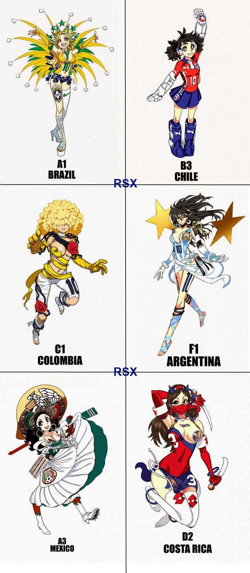Chicas anime de cada país Latino que nos dio un gran espectáculo en el Mundial - meme