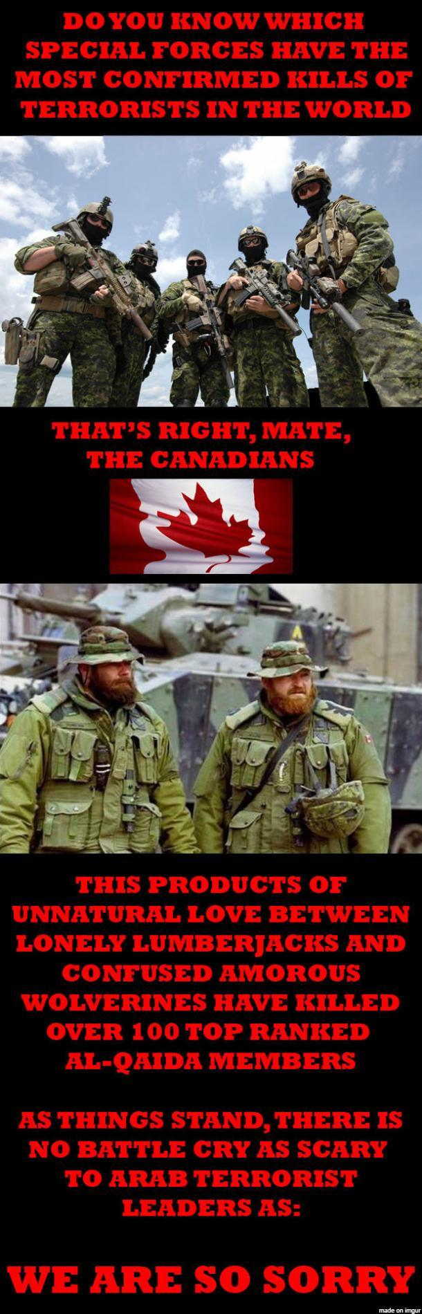When I hear ISIS threatening Canada I remember this fact - meme