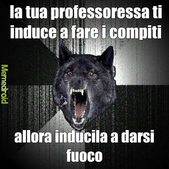 #fuoco alle professoresse - meme
