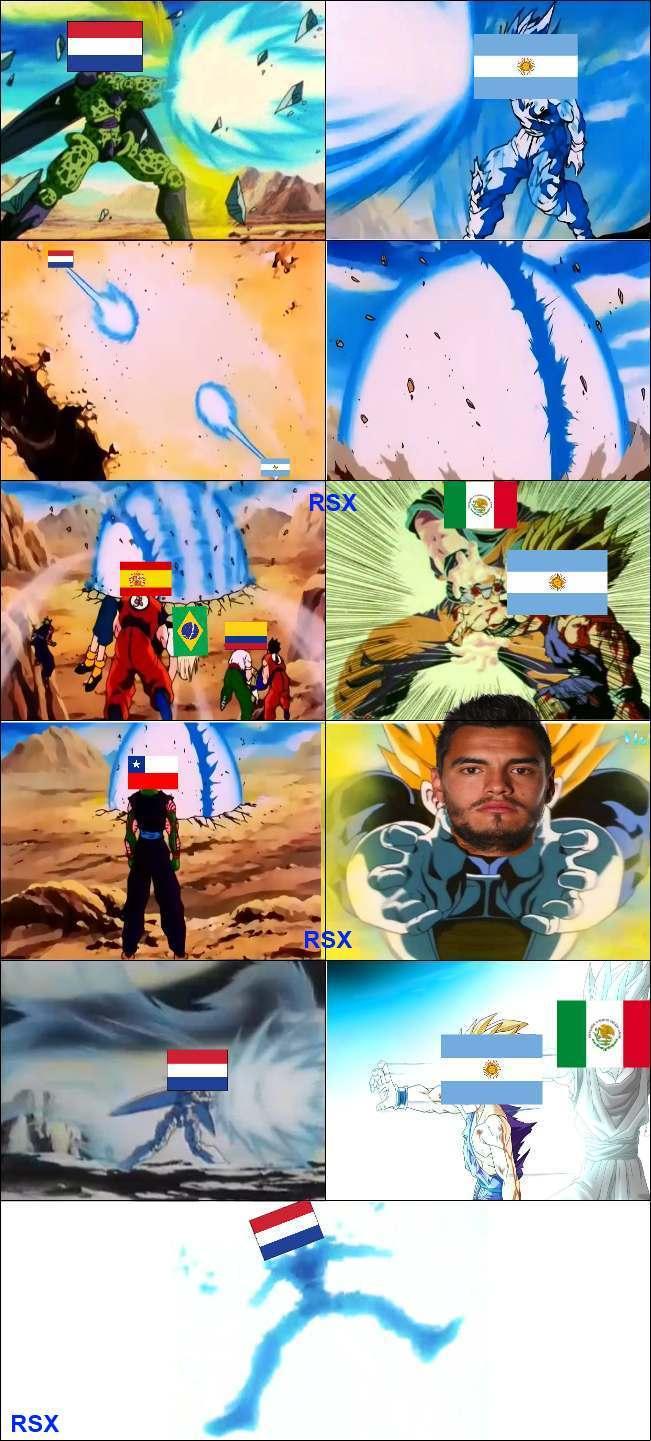 y asi fue Argentina vs Holanda :D - meme