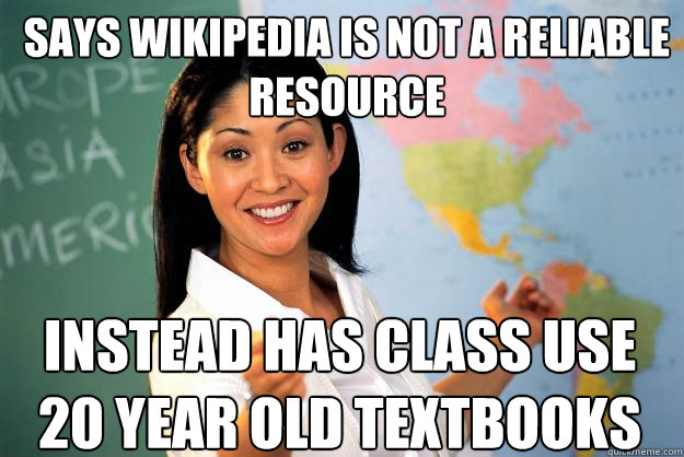 teacher wikipedia - meme