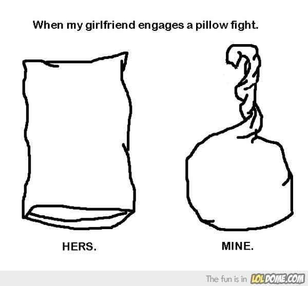 Pillow fifght - meme
