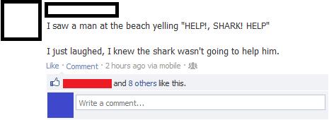 Help! Shark!! - meme