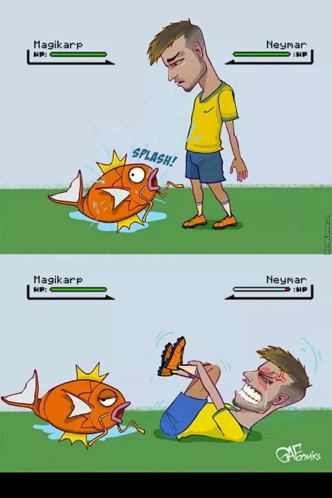 neymar is weak - meme