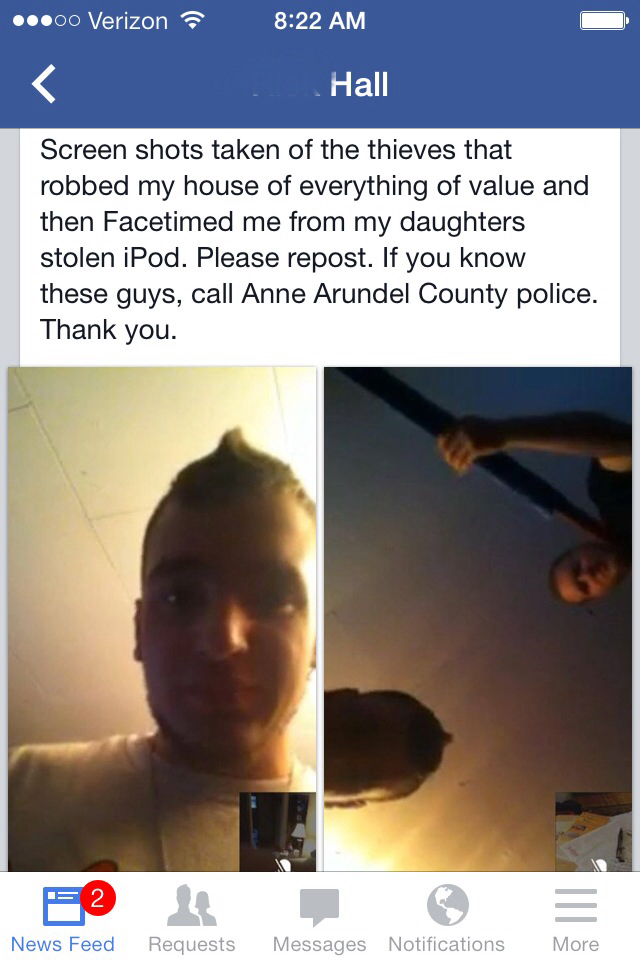 Fellow memedroiders let's get these two douchebags caught. please share. This happened here in Maryland. Thanks :)