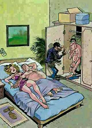 3rd comment is the burglar. - meme