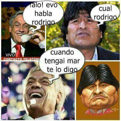 mientras tanto Chile y Bolivia .-. - meme