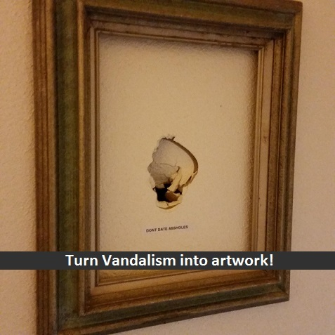 Make a meaningful piece of art from an offense against you - meme