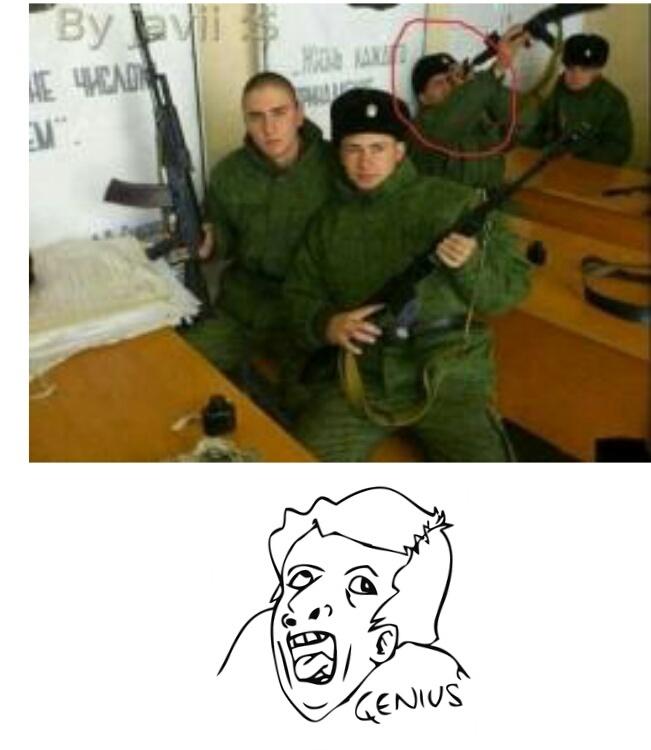 Vediamo cosa c'è detro la canna di questo fucile - meme
