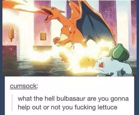 Damn it Bulbasaur - meme