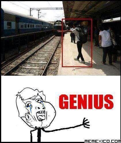 Genius boy - meme
