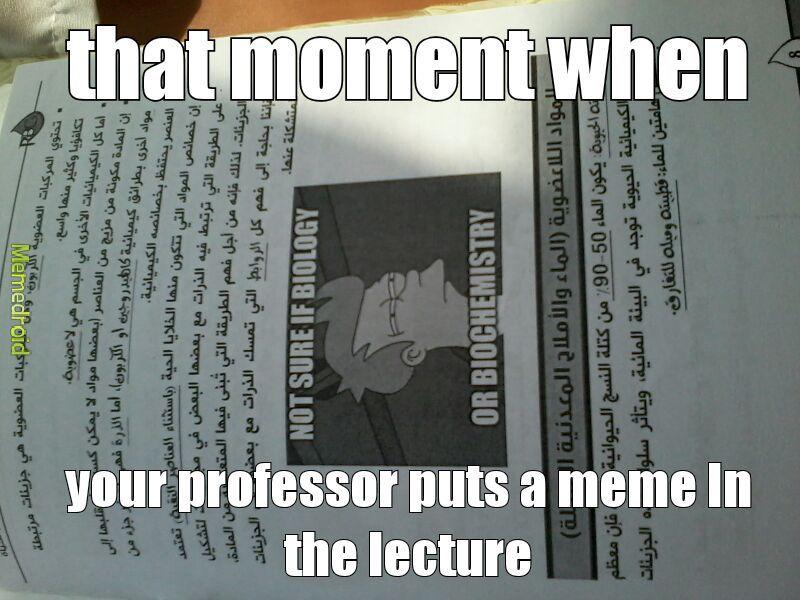 Dat professor - meme