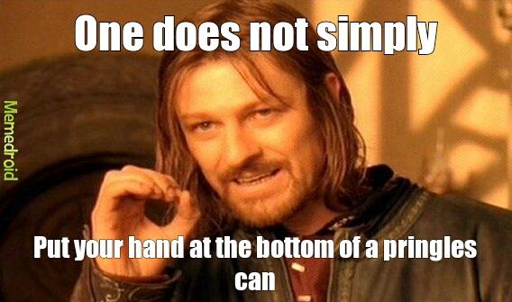 pringles cans suck - meme