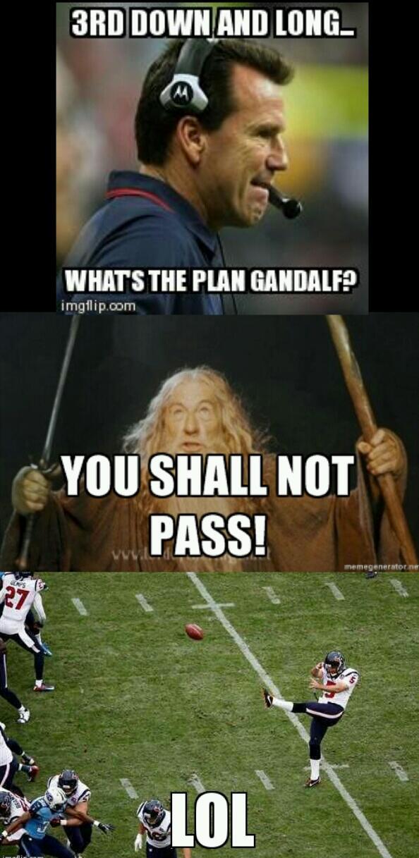 I love the Texans :/ - meme