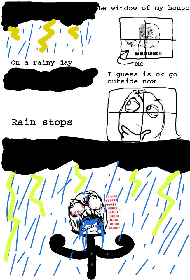 Fffffffuuuuuuuuu.....................rain :-) - meme