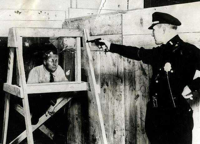anti bullet glass test,1931 - meme