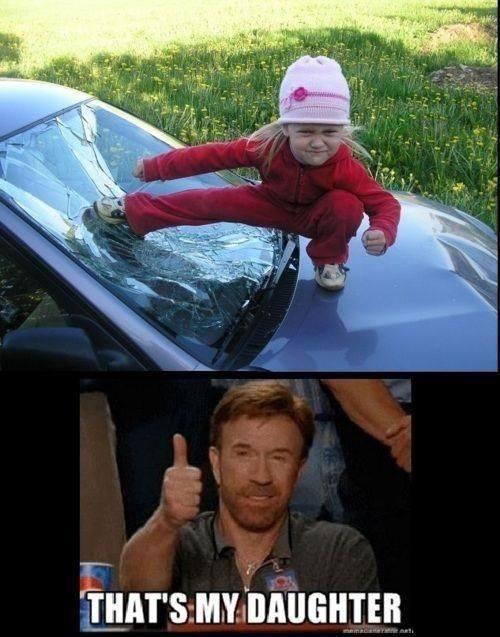 La hija de Chuck Norris :O - meme
