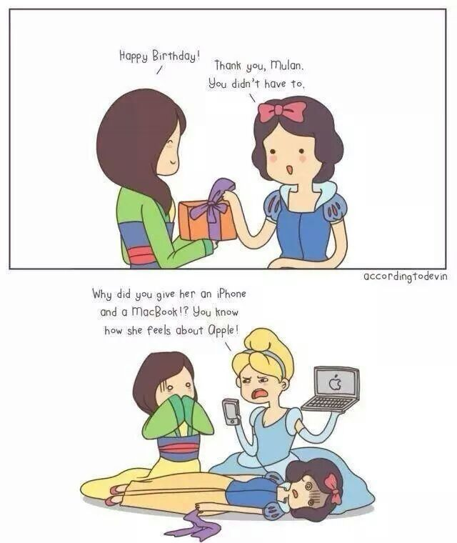 So, Snow White is a Android user? - meme