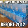 Seahawks fans at the beginning of 2013