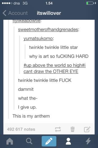 Twinkle twinkle little....Fuck! - meme