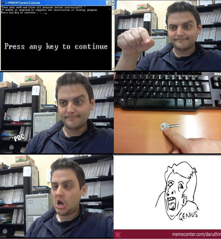 press a key - meme