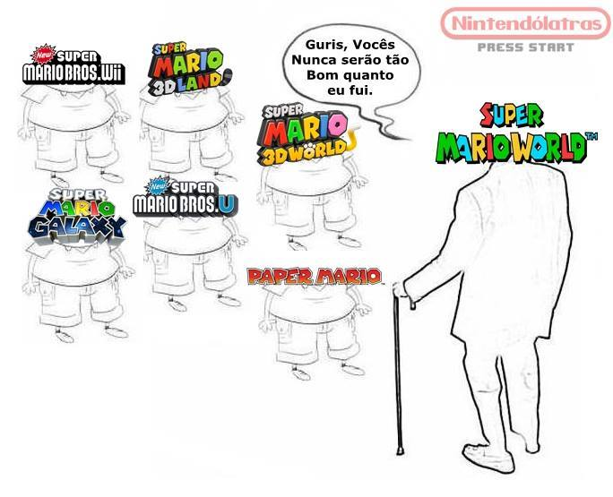 Super Mario World é melhor do que todos os outros! - meme